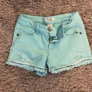 Mudd Girls mint green shorts
